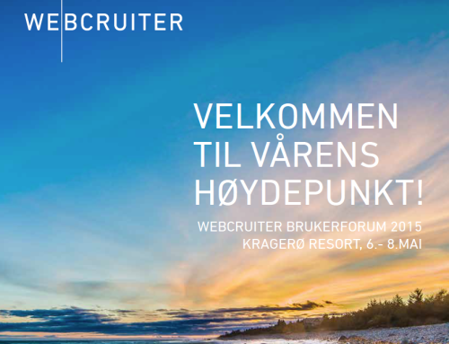 Foredrag på Webcruiters brukerforum